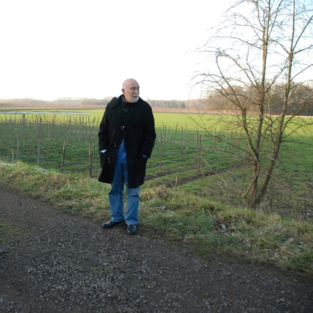 "In a scene from the film ""Transport XX to Auschwitz,"" Simon Gronowski stands at the spot where he jumped from the train 70 years ago - near the village of Kuttekoven. (Photo: Marc Van Roosbroeck)"
