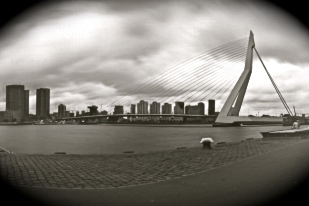 Holland. Rotterdam. September 11, 2011. Erasmus bridge pinhole photo © michelvanderburg.com