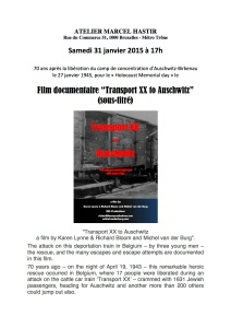 Atelier Marcel Hastir bulletin - Film  31 Jan 2015  « Transport XX to Auschwitz »