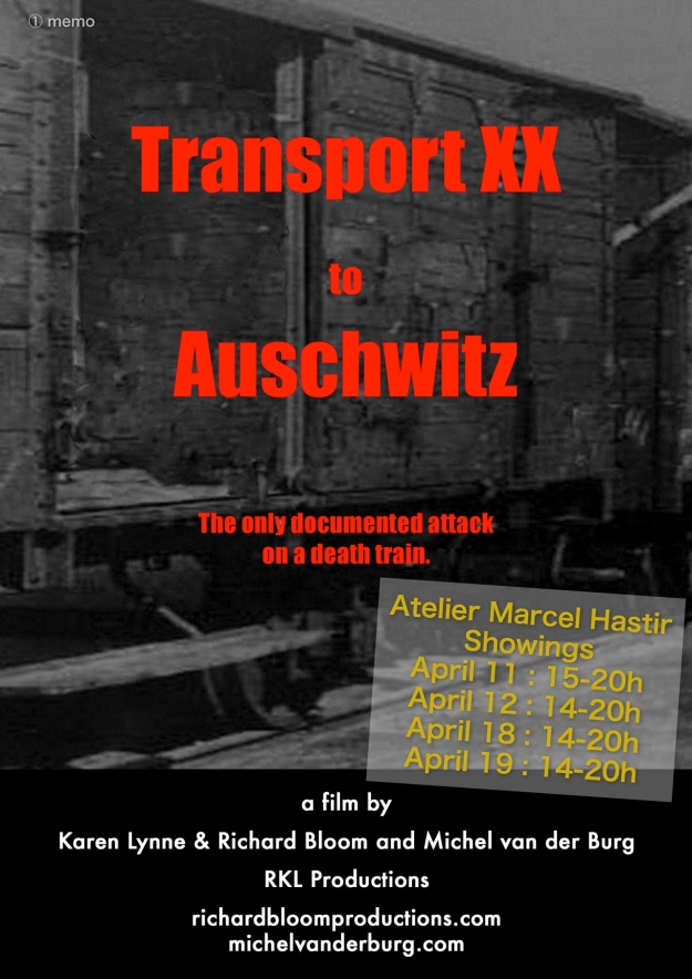 Atelier Marcel Hastir showings film Transport XX to Auschwitz - April 2015