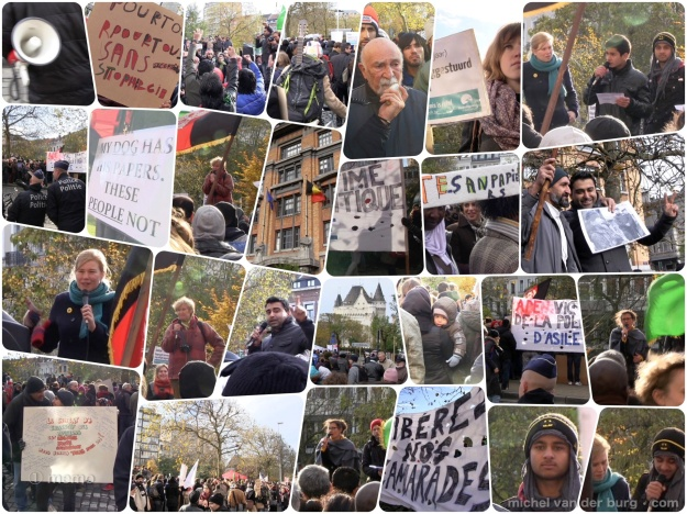 Justice! Very successful solidarity march by Belgians and Afghans for the Afghan refugees in Brussels , today 2 years ago (20 nov 2013). Many are now regularized.